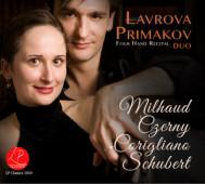 Lavrova Primakov Duo   Four Hand Recital   Milhaud, Czerny, Corigliano, Schubert